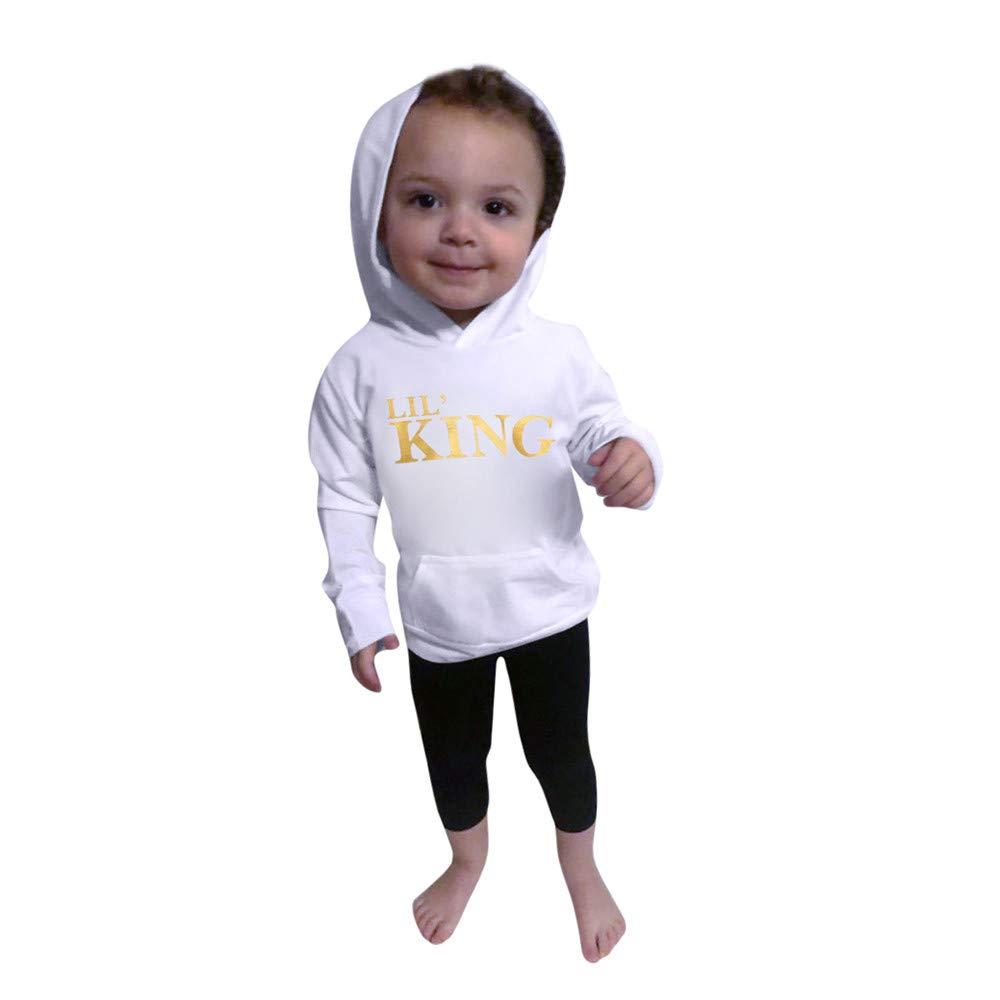 GoodLock Clearance!! Baby Boys Hoodie Tops Toddler Kids Letter Sweatshirt Top Coat Outfits
