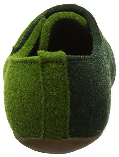 Haflinger Unisex-Erwachsene Everest Lars Hohe Hausschuhe Grün (Grasgrün)
