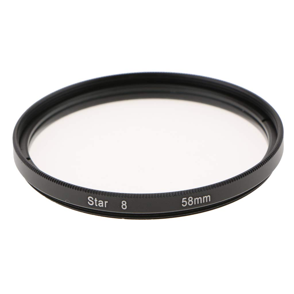 Prettyia Photography 58mm 8 Points Star Cross Screen Lens Filter Made of Optical Glass
