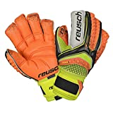 Reusch Soccer Pulse Deluxe G2 Ortho-Tec Goalkeeper Gloves, Orange/Yellow, Size 9