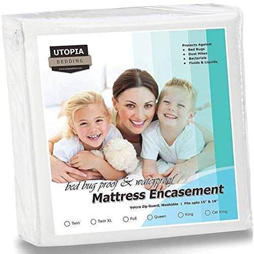 Cheapest Price! Utopia Bedding Zippered Mattress Encasement - Bed Bug Proof, Dust Mite Proof Mattres...