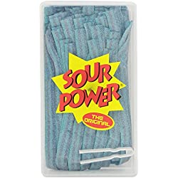 SOUR POWER Berry Blue Candy Belts, 150 Pieces, 42.3 Ounce