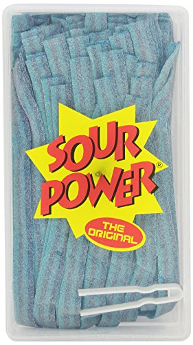 SOUR POWER Berry Blue Candy Belts, 150 Pieces, 42.3 Ounce]()