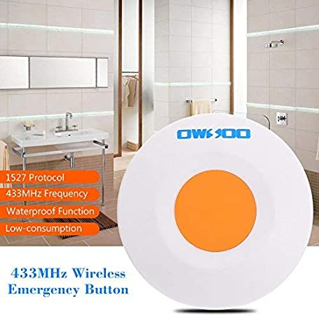 OWSOO 433MHz Wireless Emergency Button for Home House Security Alarm System