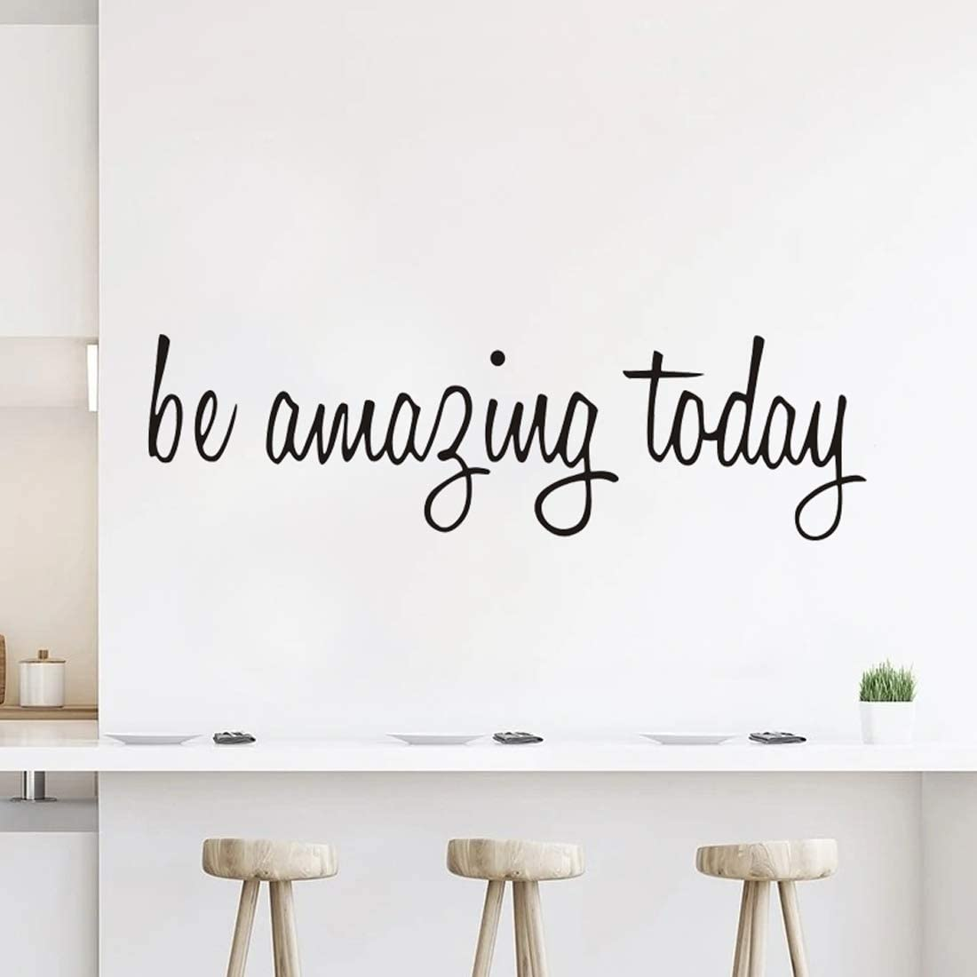 Wall Decals Stickers for Bedroom Be Amazing Today Vinyl Inspirational Wall Saying Peel and Stick Motivational Quotes Decal for Home Living Room Decor DIY Decoration