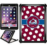 OtterBox iPad Air 2 Black Defender Series Case with Colorado Avalanche Polka Dots Design by Coveroo