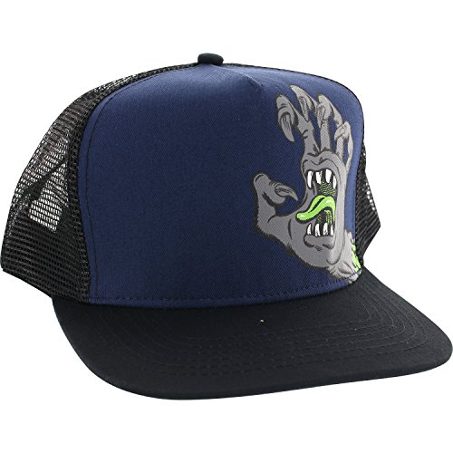 Santa Cruz Skateboards Phillips Hand Black / Blue Mesh Trucker Hat - Adjustable