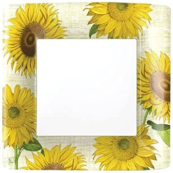 Amazon.com Paper Plates Dinner Size Paper Party Supplies Sunflowers Pack of 16 Kitchen u0026 Dining  sc 1 st  Amazon.com & Amazon.com: Paper Plates Dinner Size Paper Party Supplies Sunflowers ...
