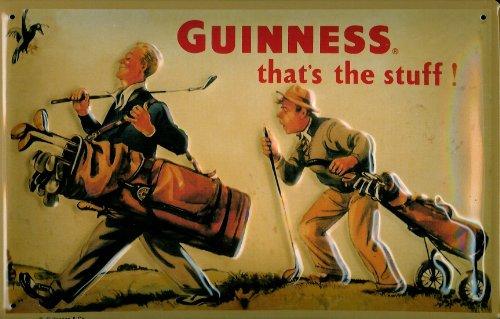 Guinness Golf nostalgic 3D embossed & domed strong Metal Tin Sign 7.87