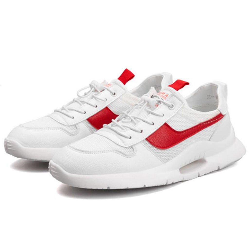 GAOLIXIA Zapatillas respirables para hombres Telas voladoras Zapatillas deportivas ligeras Zapatillas de baloncesto Zapatillas deportivas de moda Zapatos casuales Zapatos de skate ( Color : Rojo , tamaño : 44 ) 44|Rojo