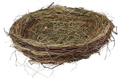 BD Crafts 8''Bird nest - Made of Grass twig and Birch