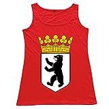 Onlyprint Women's BERLIN BEAR King Tank Top Size XL US Red
