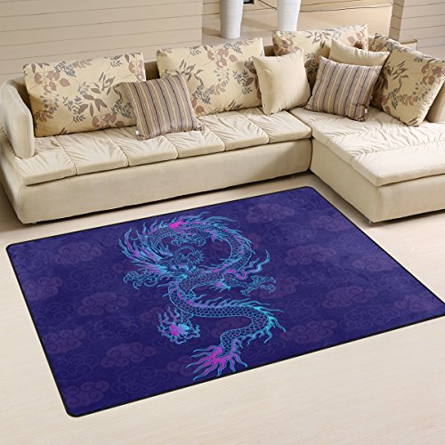 Chinese Dragon Area Rug Carpet Floor Mat For Dining Room Living Room Bedroom, Size (Abstract Dance Costumes)