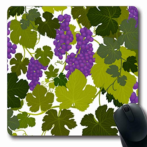 - Ahawoso Mousepads Valley Green Arbor Grape Vines Wine Country Airbrush Painting Alcohol Purple Bottle Cabernet Oblong Shape 7.9 x 9.5 Inches Non-Slip Gaming Mouse Pad Rubber Oblong Mat
