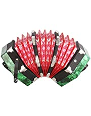 Concertina Accordion 20-Button 40-Reed Anglo Style with Carrying Bag