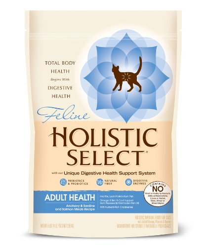 Holistic Select Natural Dry Cat Food, Anchovy, Sardine & Salmon, 5.9-Pound Bag