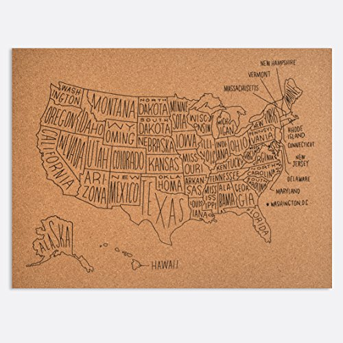 united states map on cork board - 2