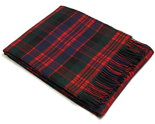 (Bronte Throw Blanket - Tartan Throw - Merino Lambswool (Macdonald))