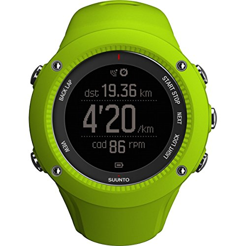 Suunto Ambit3 Run HR Monitor Running GPS Unit, Lime by Suunto
