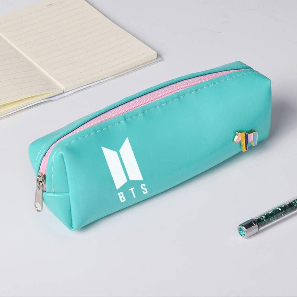 BTS - Estuche para lápices de la liga juvenil a prueba de balas, color caramelo, monedero para estudiantes hombres y mujeres, bonito monedero de papelería: Amazon.es: Oficina y papelería