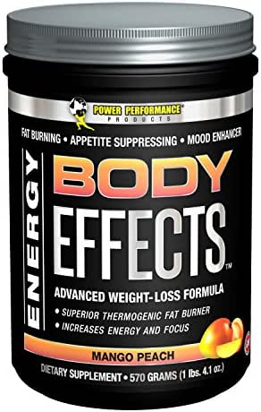 Body Effects - Power Performance Products Body Effects Pre Workout Supplement - the Ultimate Weight Loss, Fat Burning, Energy Boosting, Appetite Suppressing, Mood Enhancing and Muscle-Defining Supplement - Mango Peach 570 grams (1lbs. 4.1oz)