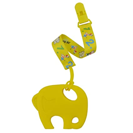 Bebé Chupete clip - silicona juguete de la dentición ...