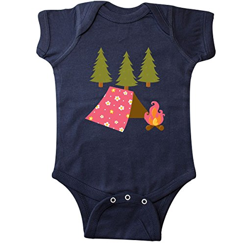 inktastic Summer Camp Girls Camping Infant Creeper 12 Months Navy Blue Navy Blue Flowered