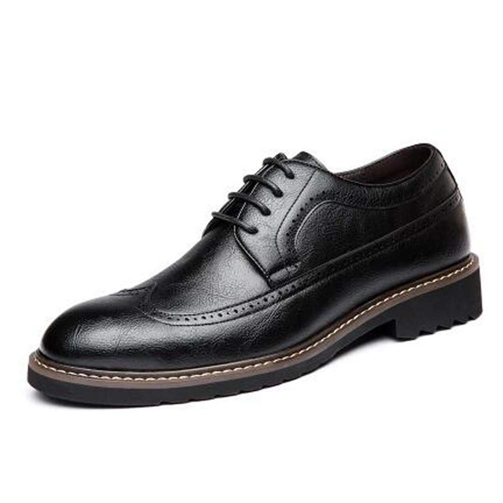 Mens Formal Shoes Pointed Toe Lace Up Business Oxford Shoes Big Size