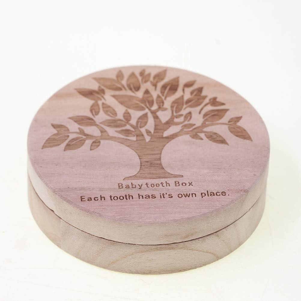 Toyvian Holz Baby Z/ähne Box Milchz/ähne Aufbewahrungsbox Milchzahndose Zahndose Andenken Box Erinnerungsbox f/ür Kinder Souvenir Halskette Fall