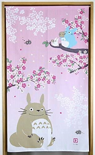 Narumikk Studio Ghibli noren Japanese curtain Spring and Cherryblossoms petal from Japan 10316