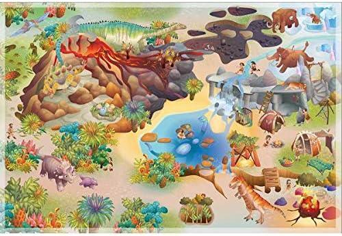 Dinosaures Multicolore 100 X 150 cm Made in Europe HOK Tapis de Jeu