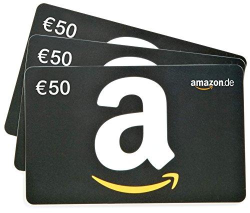 Amazon.de Geschenkkarte - 3 Karten zu je 50 EUR (schwarz)