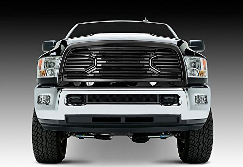 Razer Auto Gloss Black Big Horn Style Complete Grille Factory Replacement Grille w/Shell for 2010-2018 Dodge RAM - Grille 3500 2011 Dodge