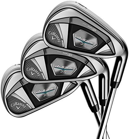 Callaway Golf 2018 ローグ X アイアン6本セット (男性用、左利き、シャフト: スチール、フレックス: R、セット内容: 5I,6I,7I,8I,9I,PW) 4A385033C2376 141[並行輸入]
