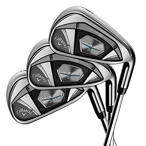 Callaway Golf 2018 Men's Rogue X Irons Set (Set of 6 Total Clubs: 5-PW, Right Hand, Steel, Regular Flex)