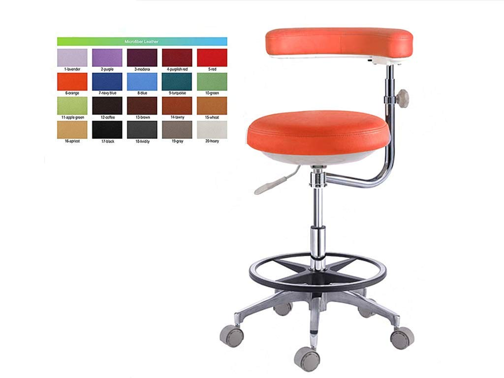 SoHome Dental Assistant Chair 360 Degree Rotation Nurse Chair Mobile Dental Stool Micro Fiber Leather by SoHome