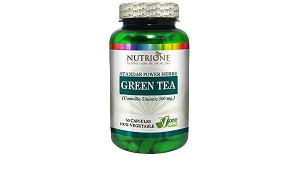 Nutrione extracto de te verde, 60 caps.: Amazon.es: Salud y cuidado personal