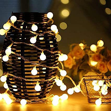 Lighting Strings Led Ball Light String Wedding Decoration Light Bulb Garden Outdoor Waterproof Holiday Party Lantern Romantic Ambient Light To Rank First Among Similar Products