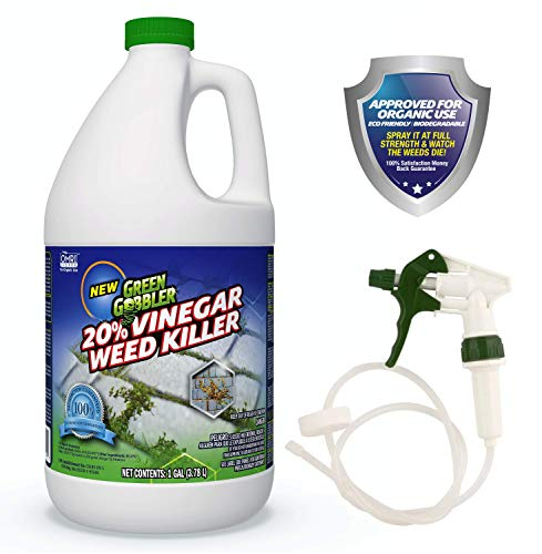 Green Gobbler Vinegar Weed Killer | Natural and Organic Weed Killer | Pet Safe | 1 Gallon