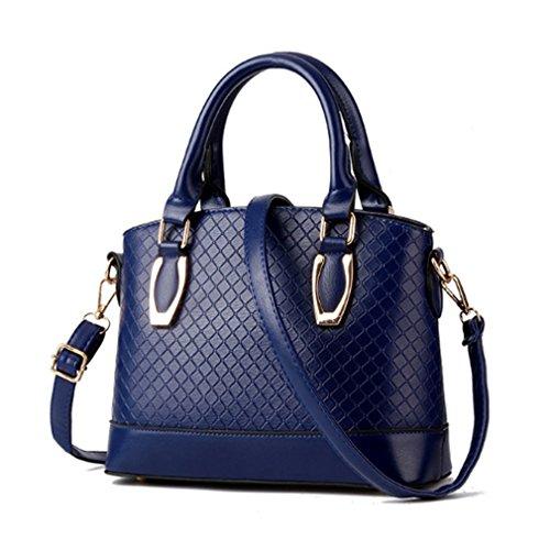 LOMOL Newest Womens Fashion Trendy Elegant Leather Tote Top-handle Handbag Shoulder Bag(C2)