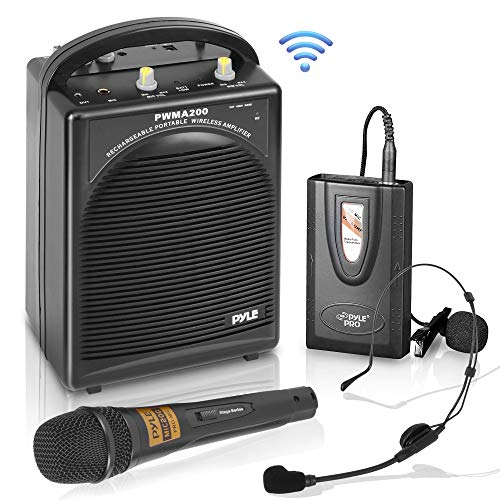 Pyle PWMA200 Compact & Wireless Microphone PA Speaker System, Handheld Mic (Best Compact Speaker System)