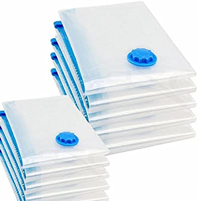 logei® 6 uds bolsa de almacenamiento de bolsa de la aspiradora de vacío para ropa de cama y prendas de vestir, ahorro de espacio en la bolsa de ropa, ...
