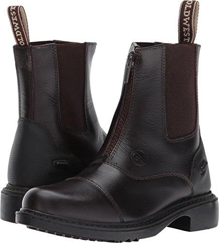 Old West English Kids Boots Unisex Gripper (Little Kid/Big Kid) Chestnut Brown 4 M US Big Kid ()