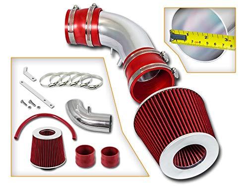 Rtunes Racing Short Ram Air Intake Kit + Filter Combo RED For 93-97 Mazda Probe / 93-97 Mazda MX-6 / Mazda 626 V6 ()