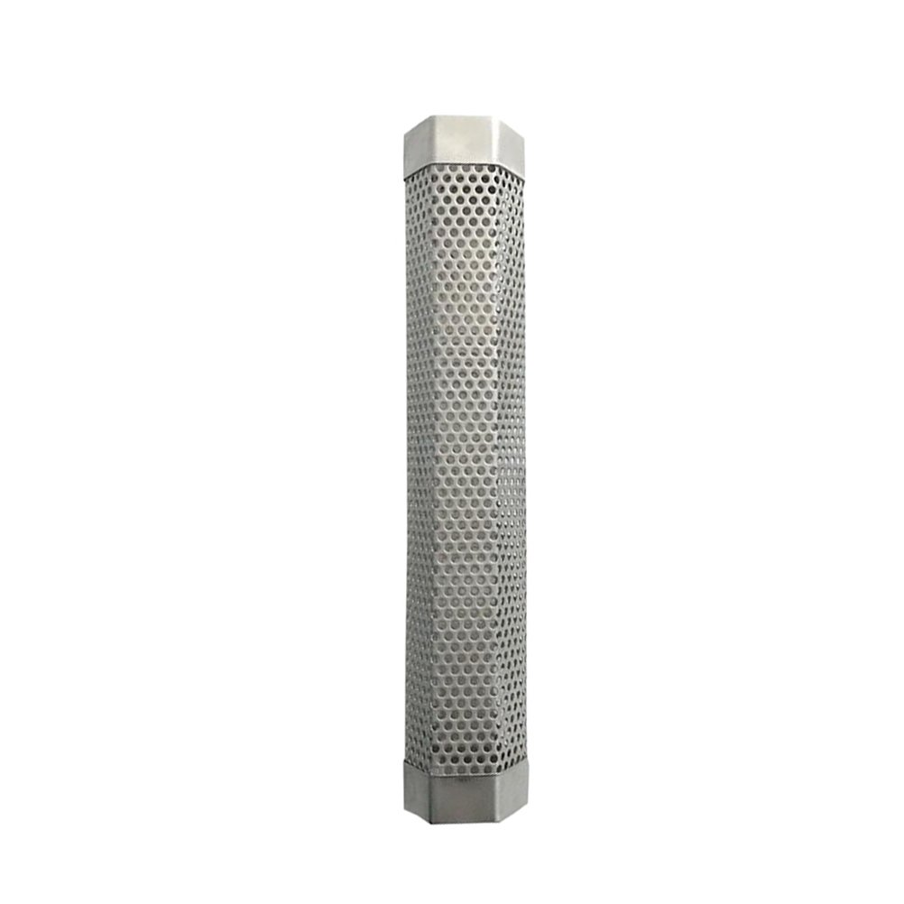 BESTONZON Pellet Smoker Tube Stainless Steel BBQ Smoke Generator Pellet Grills for Hot and Cold Smoking 12 Inch