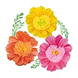 NICROLANDEE 24'' 6 Pack/Set Large Tissue Paper Flowers Handcrafted Flowers Giant Paper Flowers Wedding Backdrop Archway Decoration Baby Shower Nursery Wall Moana Decorations