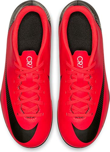 NIKE JR Mercurial Vapor 12 Club GS CR7 MG Soccer Cleat (Bright Crimson) (4.5Y)