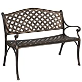 Best Choice Products Cozumel Antique Copper Cast Aluminum Bench Outdoor Patio For Sale