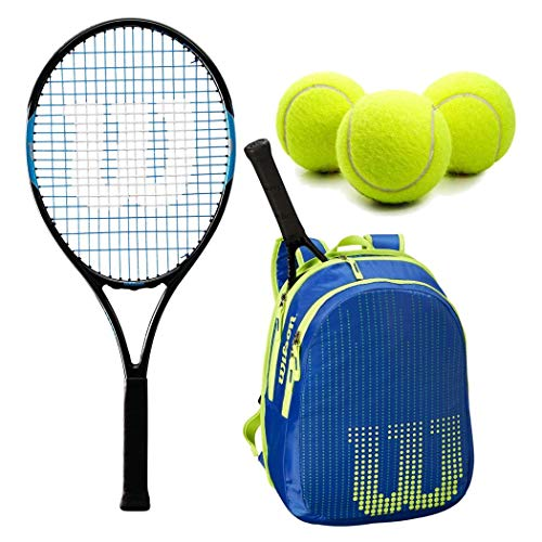 Wilson Ultra Team 25 Inch Junior Tennis Racquet Set or Kit Bundled with a Neptune Blue/Solar Lime Kid's Tennis Backpack and a Can of Tennis Balls by Generic (Image #8)