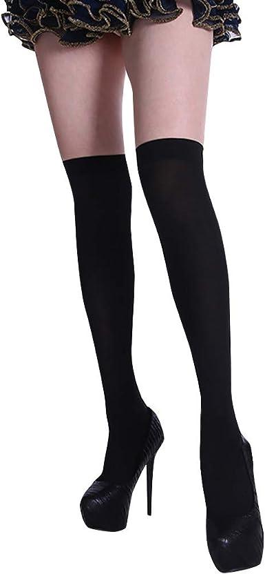 iNoDoZ Socks for Women Girls Solid Color Christmas Knee Socks Stockings Silk Stockings